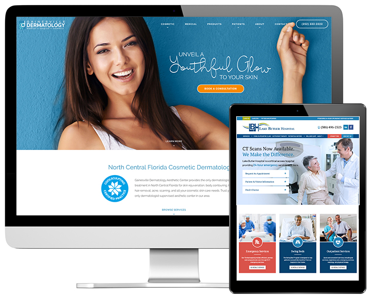 Web Design Example for Healthcare