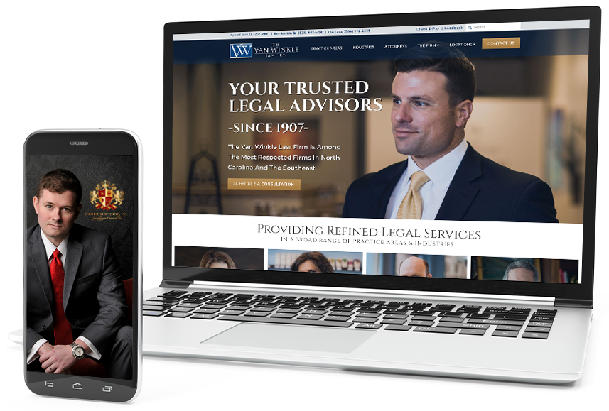 Web Design Example for Law Firms