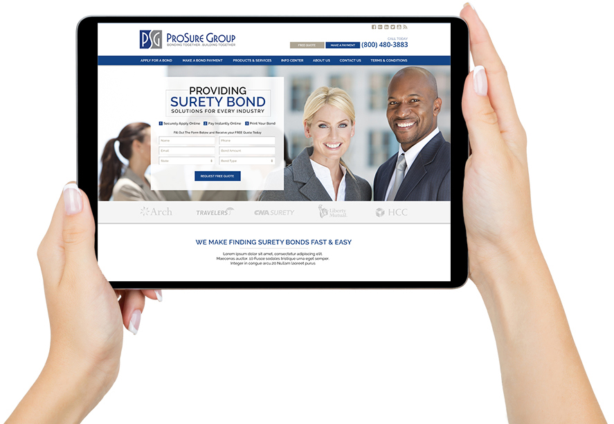 Web Design Example for Professional Service